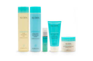 nu skin nutricentials complete skin care kit regimen for combination to oily skin